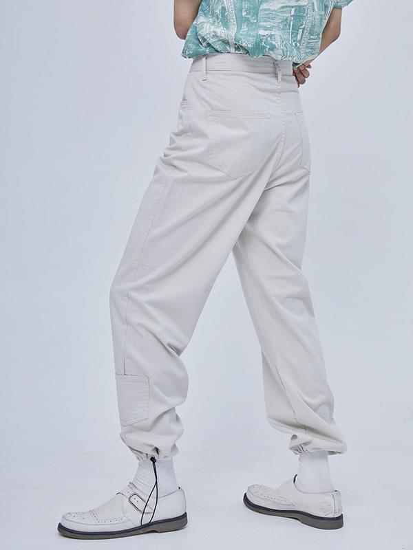 cotton string pocket pants - woman