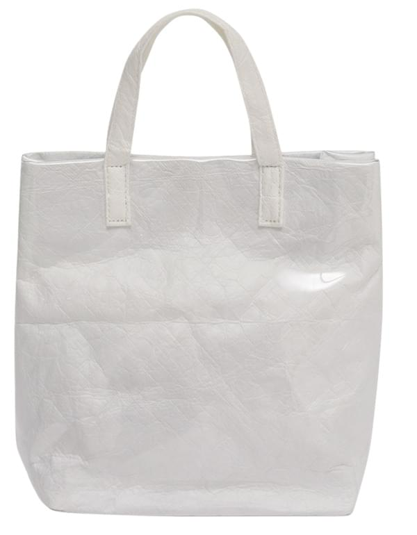 Crumple pvc tote bag_S (size : one)