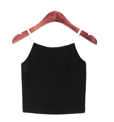 Line Color Crop Sleeves