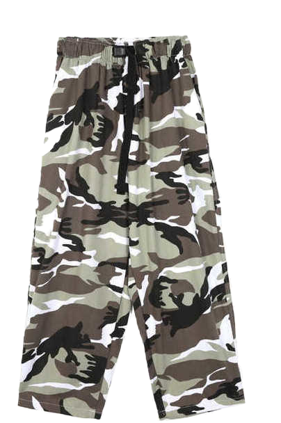color camo camper pants - men