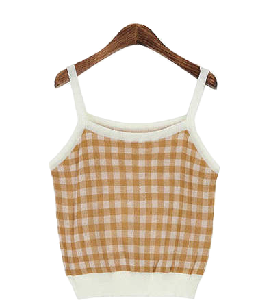 Gingham Check Sleeveless