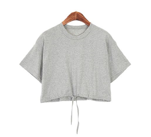 String crop t-shirt