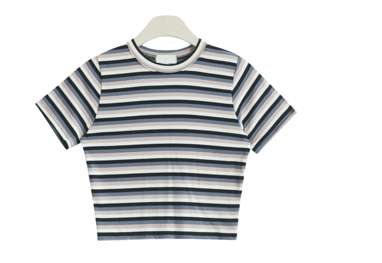 Garden double stripe short-sleeved polo shirt