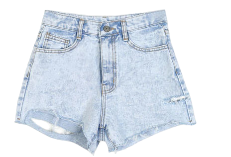 vintage cut highwaist short pants - woman