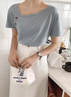 Pastel Button T-shirt