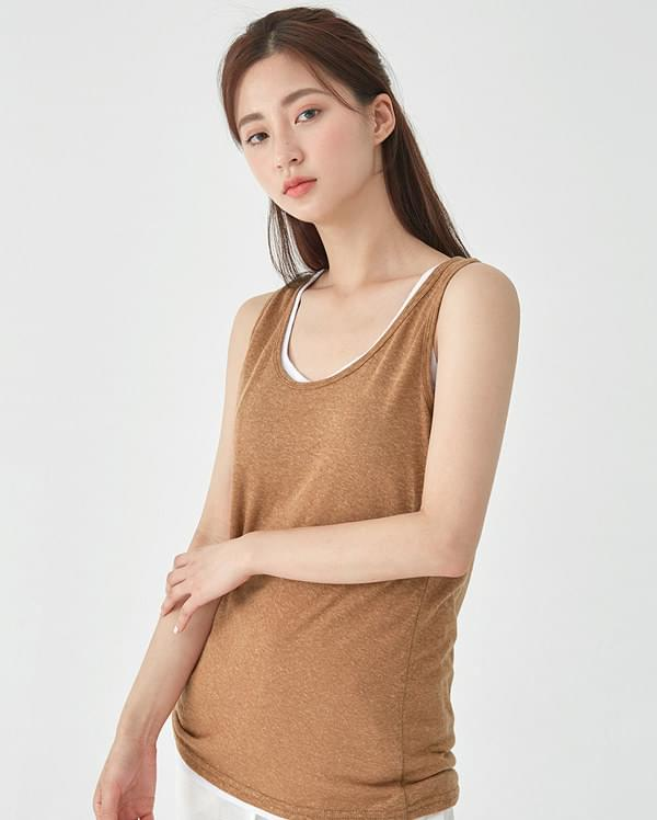 rumi basic linen sleeveless 無袖