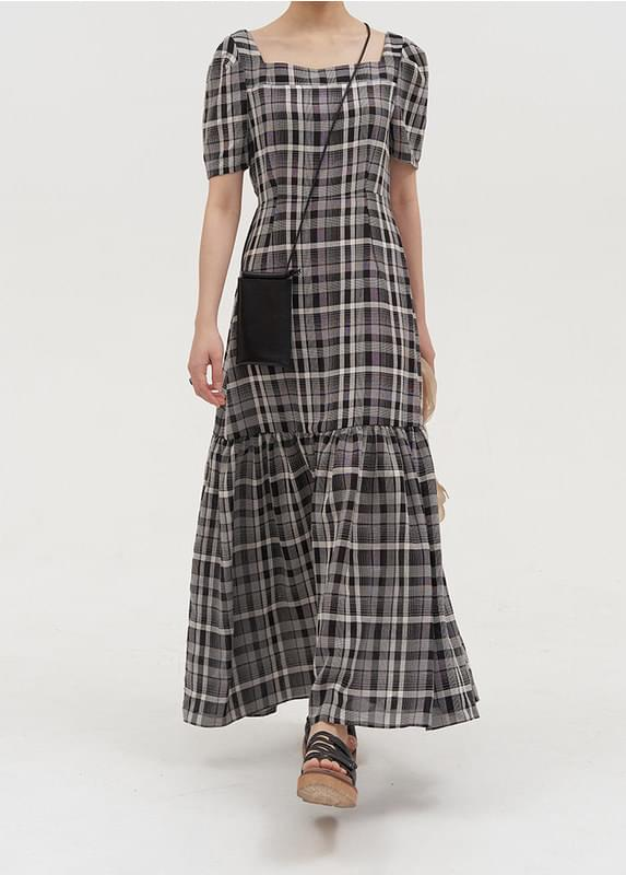 Square Check Dress