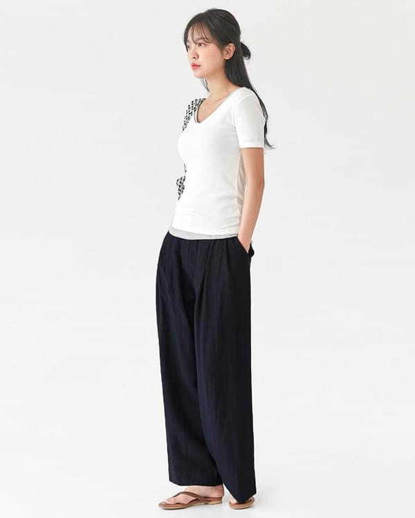laura linen wide pants 長褲