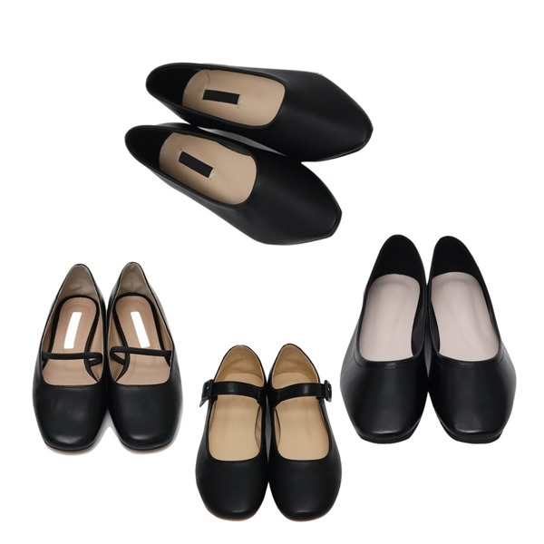 From Beginning Well round flat shoes_Y (size : 230,235,240,245,250),From Beginning Marshmello mary-jane shoes_S (size : 230,235,240,245,250),From Beginning Bending mary-jane shoes_M (size : 230,235,240,245,250)등을 매치한 코디