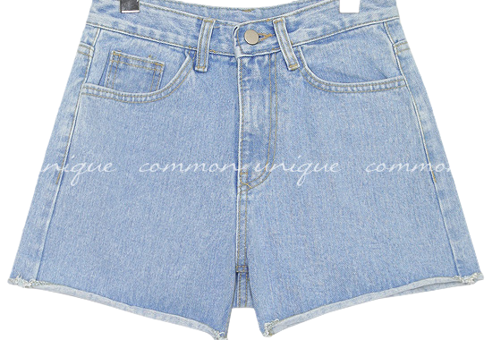 BREATHE WASHING DENIM SHORTS
