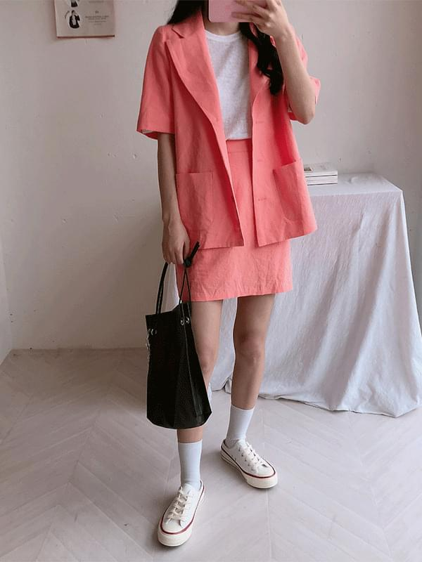 Serin color short sleeve jacket