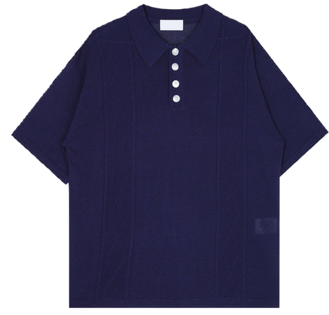 fisherman collar 1/2 knit - men