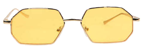 hexagon gold frame sunglasses (4 color)