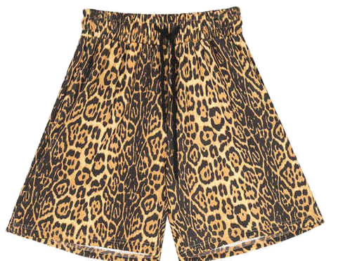 leopard half banding pants (2 color) - men