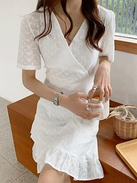 Kin An Eyelet Wrap Dress