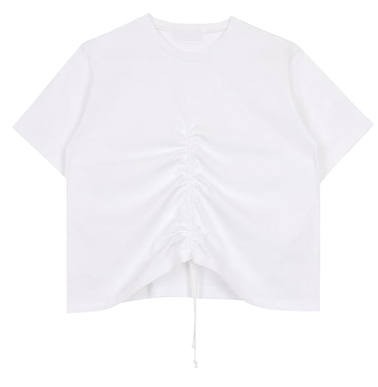 Shirring string tee (2colors)