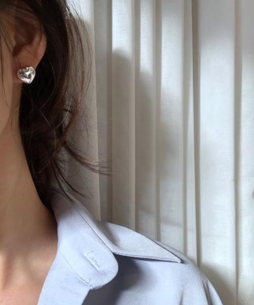 volume heart earring