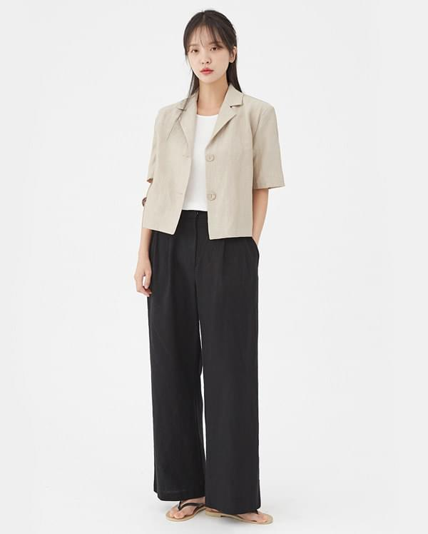 basic needs linen jacket
