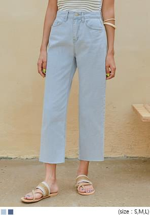 ESOM STRAIGHT WIDE DENIM PANTS