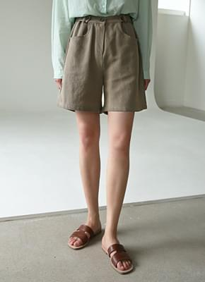 Linen voiced half pants