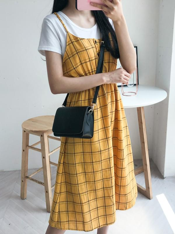 Maison check set dress