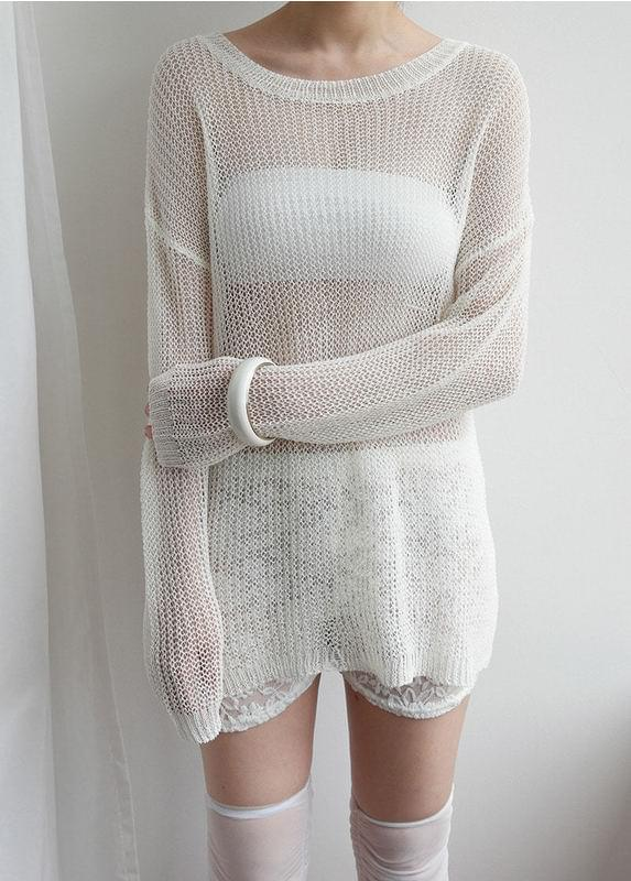 Rouge net knit