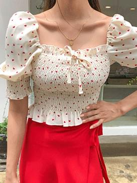 Heart Louis Shirring Blouse