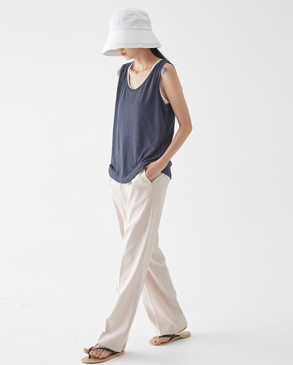 summer colorful linen sleeveless