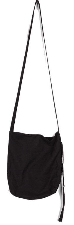 minimal strap cross bag (black)