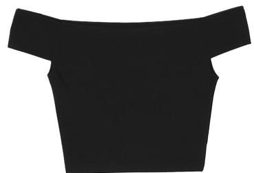 simple crop off-shoulder 1/2 T - woman