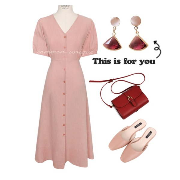 BULLANG GIRL 델리각블로퍼,common unique [OPS] ENTA LINEN PUFF STRAP LONG OPS,13등을 매치한 코디