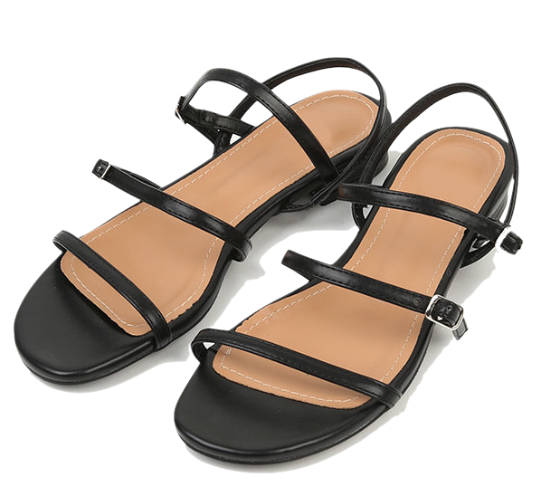 square toe cross strap sandal
