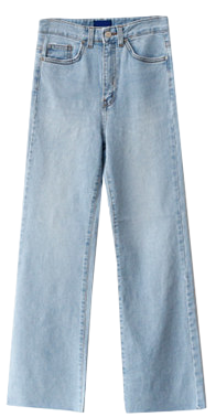 Denim fancy long pants