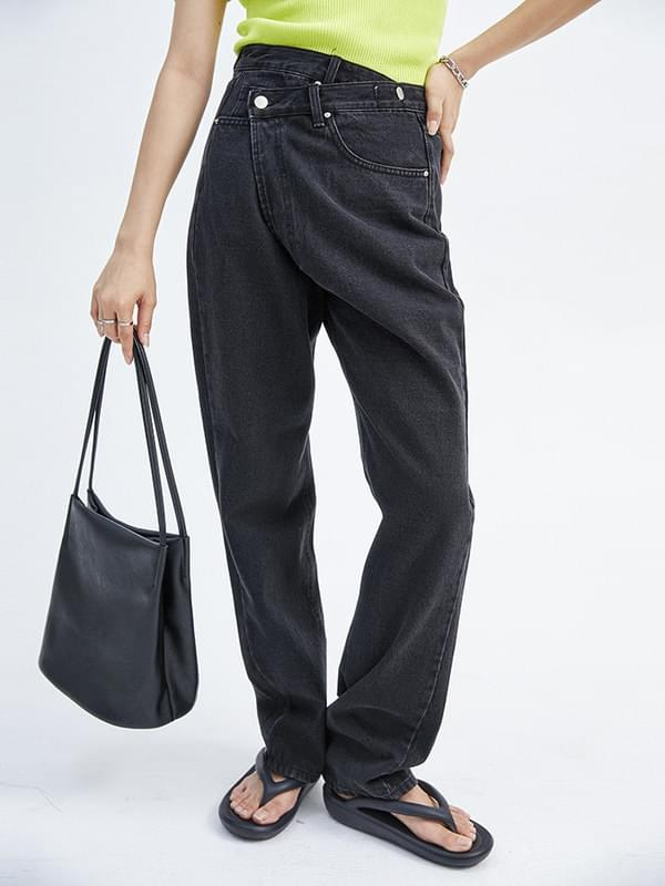 unbalanced lab jeans - woman