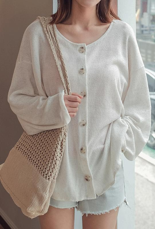 Round Button Cardigan