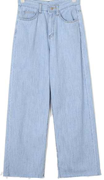 whole wide denim pants