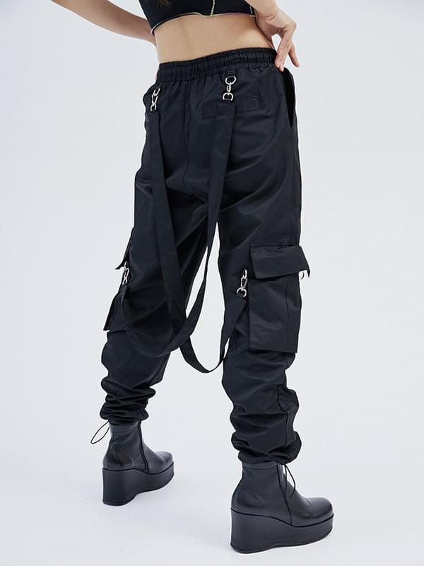 strap cargo jogger pants (2 color) - men