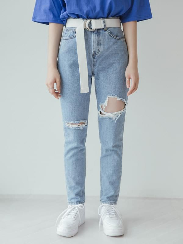 Wang Tapered denim pants