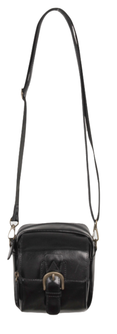 Leather buckle square bag