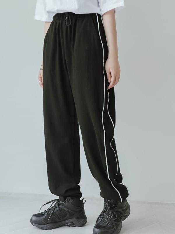 Side line loose pants