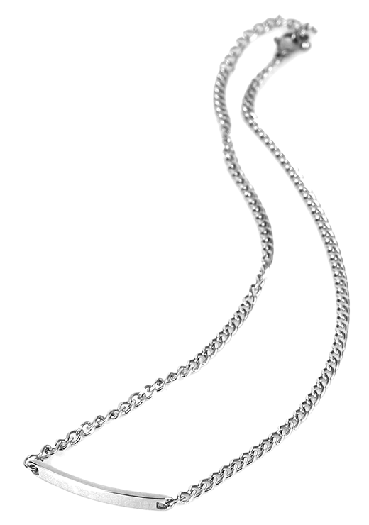 stick chain silver necklace