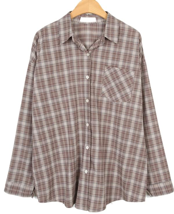cozy check loose shirts