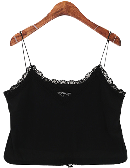 Slip lace string top