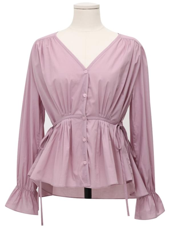 Venice pintuck string blouse_Y (size : free)