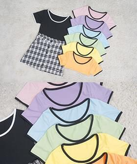 J. color crop short sleeve T