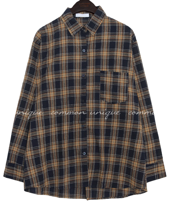 PIKA CHECK LOOSE FIT SHIRTS