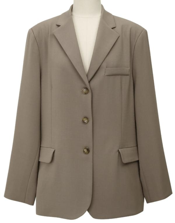 Jade single boxy jacket_J (size : free)