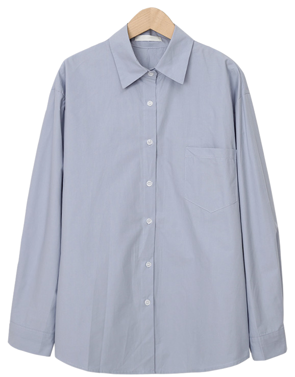 Bounce pocket color shirts_C (size : free)