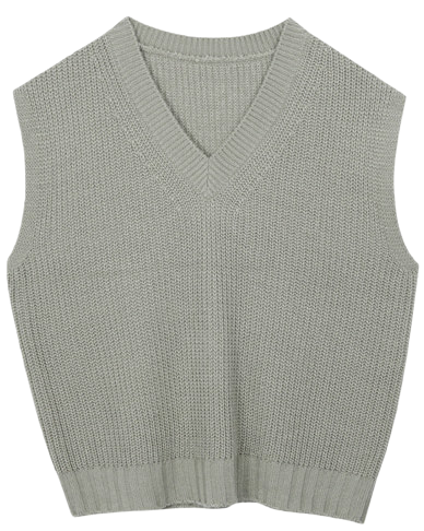 V-neck wide hatch vest