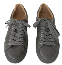tidy color leather sneakers (5colors)